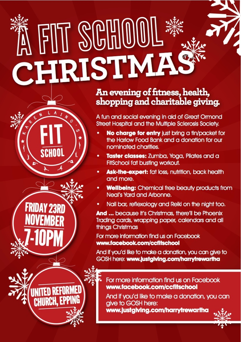 A FitSchool Christmas – 23rd November – alittlefitter