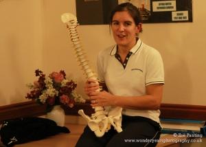 Physiotherapist Carolyn explains back health
