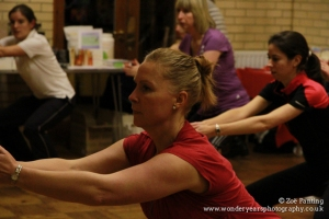 NCT's Sandra getting stuck in to Coach Chris' Fit School class